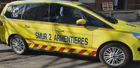 Le centre hospitalier d'Armentières s'équipe d'un nouveau véhicule SMUR